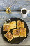 Cheese pie and coffee Royalty Free Stock Photo