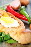 Cheese pie and egg. Royalty Free Stock Photos