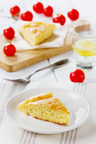 Cheese pie ith cherry tomatoes Stock Photo