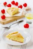 Cheese pie ith cherry tomatoes Stock Photo