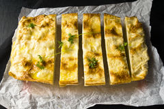 Cheese pie. Pie of pita bread with cheese Stock Photography