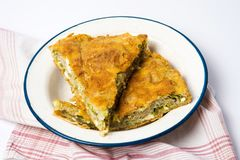 Cheese pie on a plate Stock Images