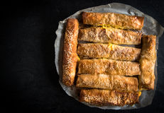 Cheese pie sticks Royalty Free Stock Image