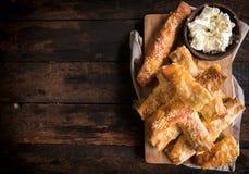 Cheese pie sticks Stock Photos