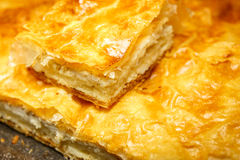 Cheese pie. Stock Photos