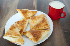 Cheese Pie with Yoghourt. Homemade Cheese Pie with Yoghourt Stock Images