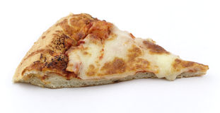 Cheese Pizza with clipping path. Slice of cheese pizza isolated on white background. Contains embedded clipping path Royalty Free Stock Photography