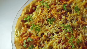 Cheese pizza stock video