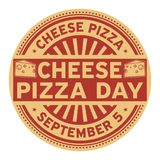Cheese Pizza Day. September 5, rubber stamp, vector Illustration vector illustration