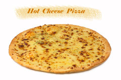 Cheese pizza isolated on white background Royalty Free Stock Photography