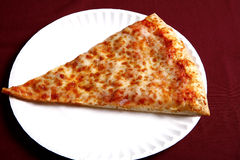 Cheese pizza slice Stock Photo