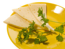 Cheese a plate Stock Photo