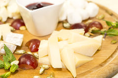 Cheese Plate Royalty Free Stock Photos