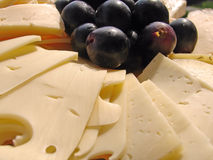 Cheese plate. Plate with all kind of cheeses Royalty Free Stock Photos