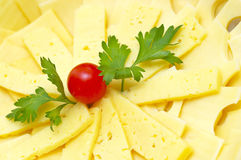 Cheese plate background Royalty Free Stock Photo