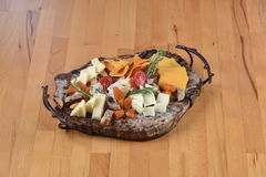 Cheese Plate. Contains various kinds of cheeses Royalty Free Stock Photos
