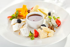 Cheese Plate Royalty Free Stock Photography