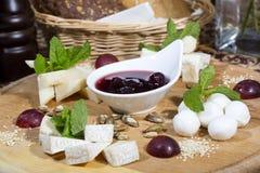 Cheese plate Stock Photos