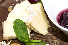 Cheese plate Royalty Free Stock Images