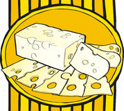 Cheese on a plate Royalty Free Stock Photography