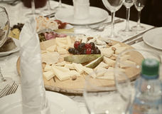 Cheese plate to lay the table Stock Photography