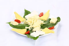 Cheese plate stock photography