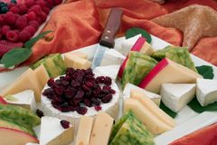 Cheese Platter. Wedding appetizers, Malibu California Stock Photography