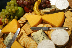 Cheese platter Royalty Free Stock Image