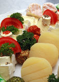 Cheese platter. On a cold buffet Royalty Free Stock Images