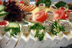 Cheese platter Stock Images