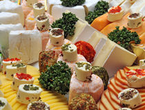 Cheese platter. On a cold buffet Stock Images