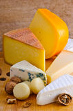 Cheese platter. Still life composition with cheese platter Royalty Free Stock Photos