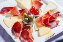 Cheese platter. Stock Photos