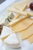 Cheese platter. Variaty of cheese on plate Stock Photo
