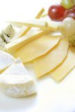 Cheese platter. Variaty of cheese on plate Royalty Free Stock Photography