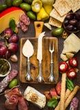 Cheese platter. Antipasti. Stock Image