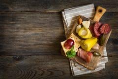 Cheese platter. Antipasti. Stock Photography