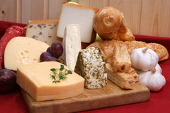 Cheese platter with organic fresh cheese Stock Image