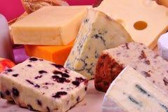 Cheese platter with organic fresh cheese Stock Photo