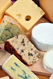Cheese platter with organic fresh cheese Royalty Free Stock Photo