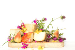 Cheese platter with pear and Parmesan Italian Stock Image