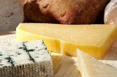 Cheese platter selective focus Royalty Free Stock Photography