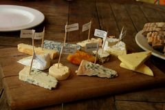 Cheese platter1 Royalty Free Stock Images