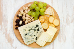 Cheese platter Royalty Free Stock Images