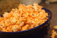 Cheese popcorn Stock Images
