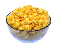 Cheese popcorn in bowl Royalty Free Stock Image