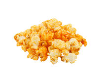 Cheese popcorn on white background Royalty Free Stock Image