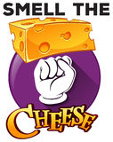 Cheese poster Royalty Free Stock Images