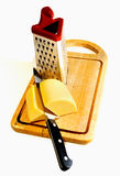 Cheese prepares for a grater Royalty Free Stock Photo
