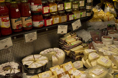 Cheese products Stock Image